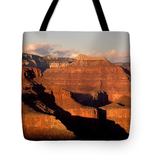 Shiva Temple  At Sunset Grand Canyon National Park Tote Bag