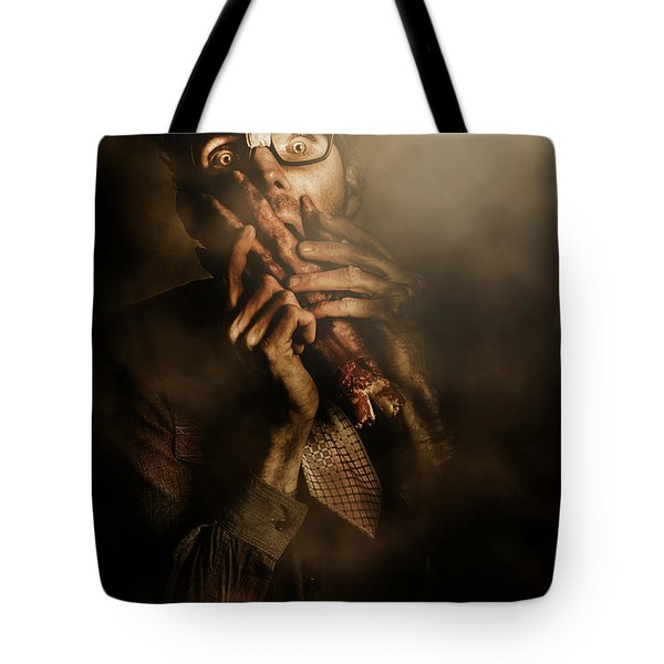 Shock Of Terror On Fright Night  Tote Bag