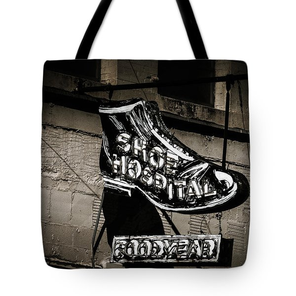 Shoe Hospital Tote Bag by Phillip Burrow