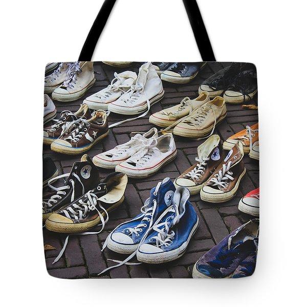 Shoes At A Flea Market Tote Bag
