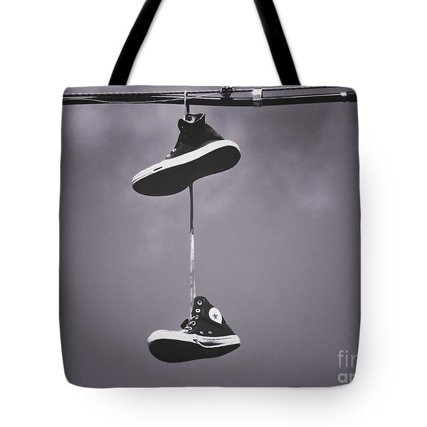 Shoes On A Wire 3 Tote Bag