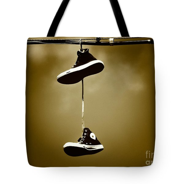 Shoes On A Wire 5 Tote Bag