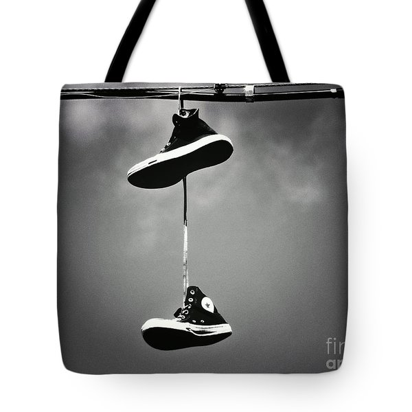 Shoes On A Wire Tote Bag