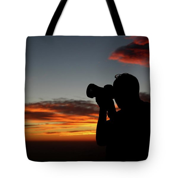 Tote Bag featuring the photograph Shoot The Burning Sky by T A Davies