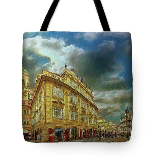 Shooting Round The Corner - Prague Tote Bag