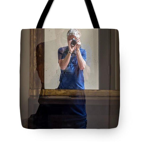 Shooting The Photographer Tote Bag