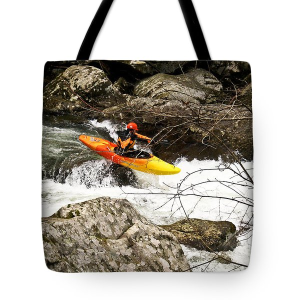 Shooting The Rapids Tote Bag