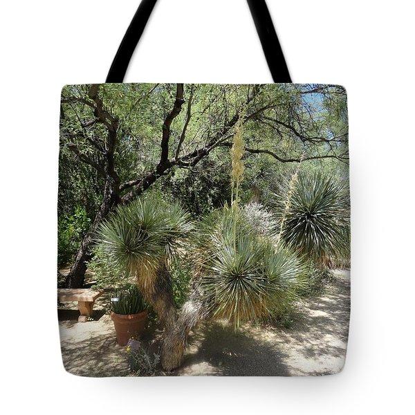 Shooting Up Cactus Garden Tote Bag