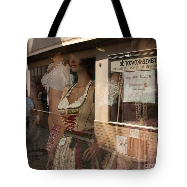 Shop Window Reflection Tote Bag