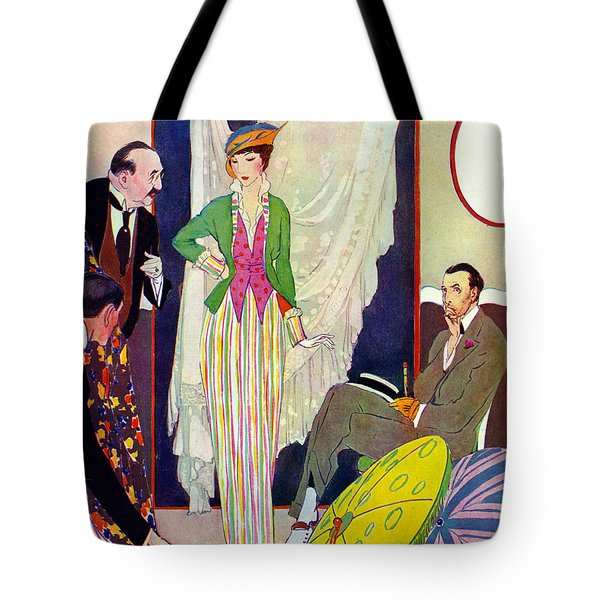 Tote Bag featuring the photograph Shopping 1914 by Padre Art