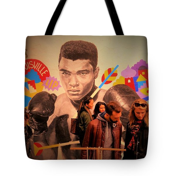 Shopping In Brooklyn With Mohamed Ali Tote Bag