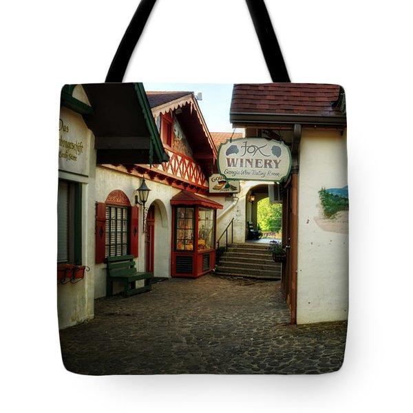 Shopping In Helen Georgia Tote Bag