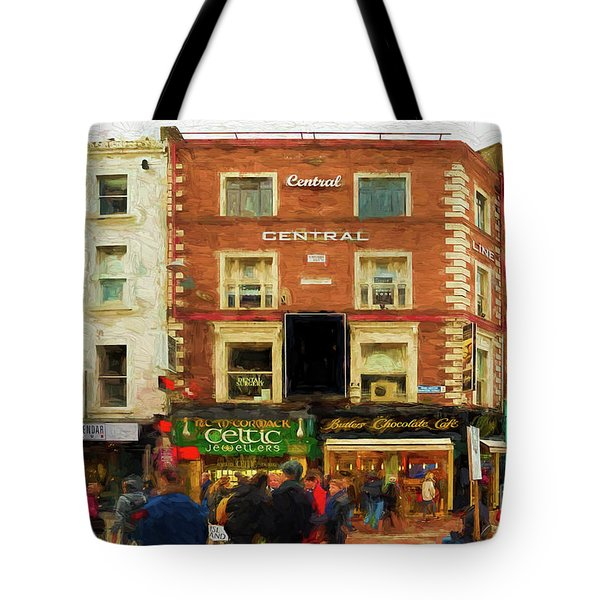 shopping on Grafton Street in Dublin Tote Bag