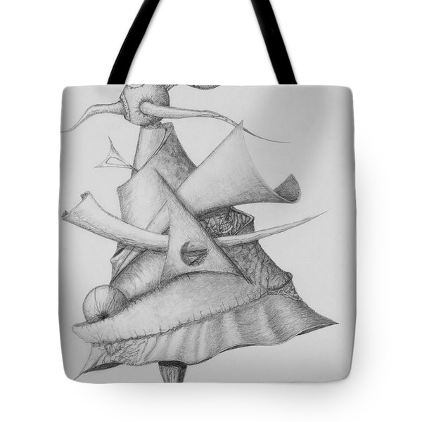 Tote Bag featuring the drawing Plasma Tree by Charles Bates