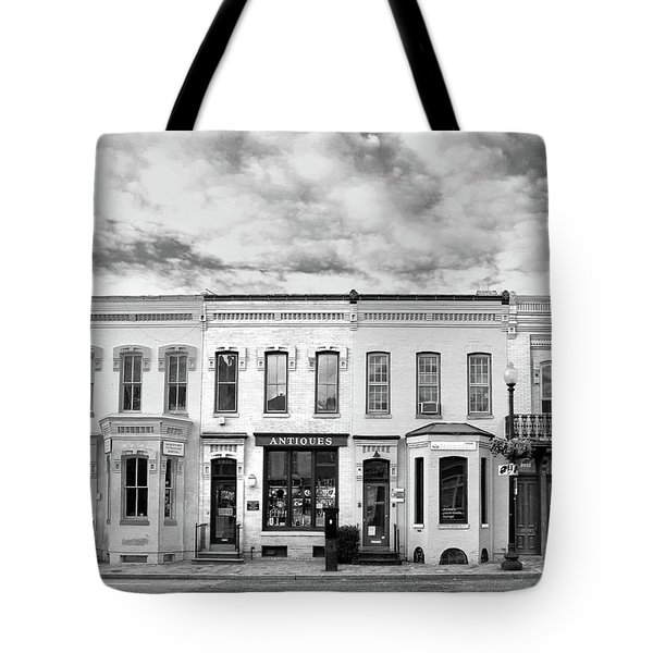 Tote Bag featuring the photograph Shops by Mitch Cat