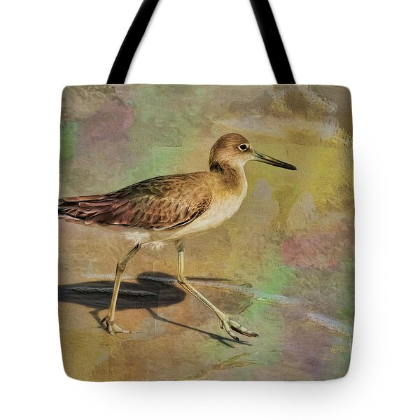 Tote Bag featuring the painting Shore Bird Beauty by Deborah Benoit