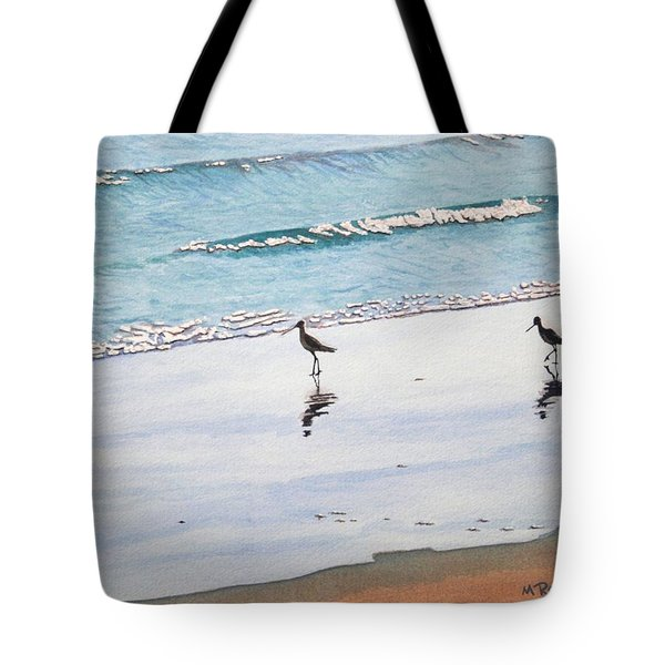 Shore Birds Tote Bag by Mike Robles