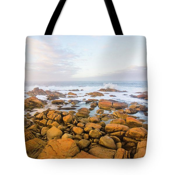 Tote Bag featuring the photograph Shore Calm Morning by Jorgo Photography - Wall Art Gallery