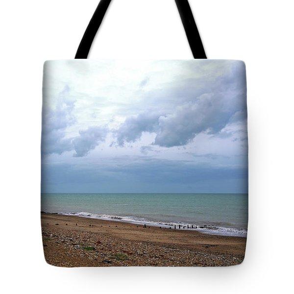 Shoreham Shoreline Tote Bag by Anne Kotan