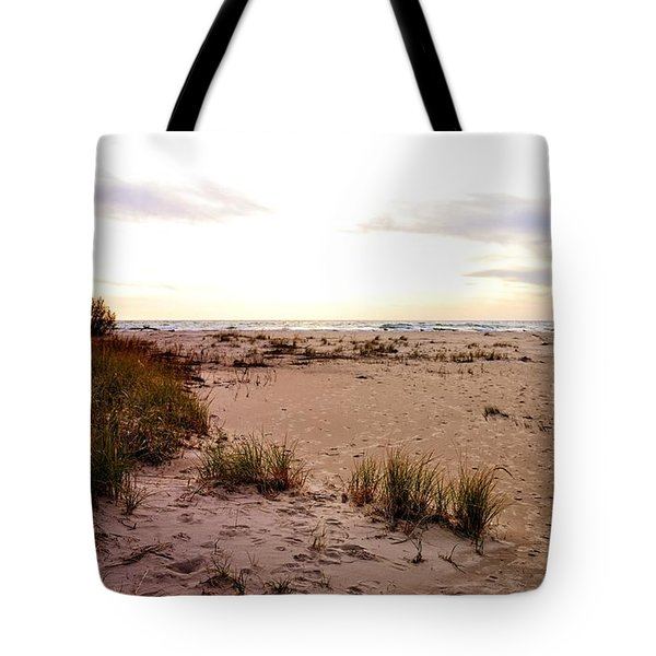 Tote Bag featuring the photograph Shoreline At Dusk by Michelle Calkins