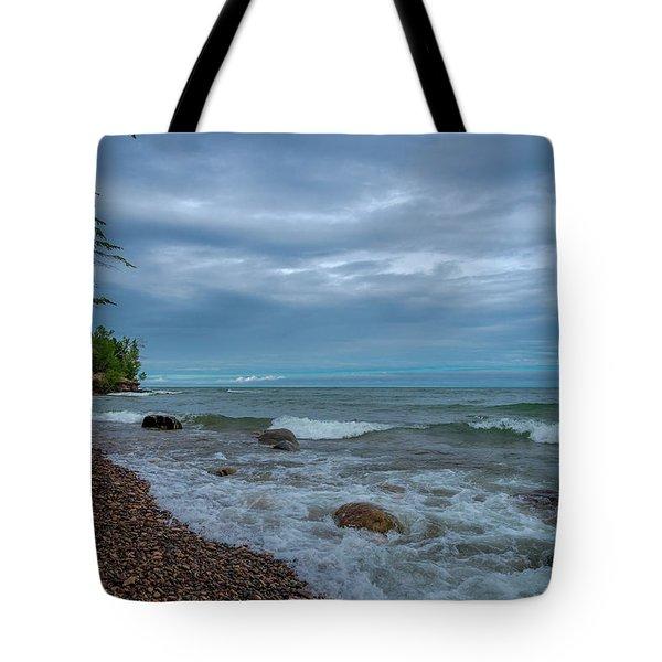 Shoreline Clouds Tote Bag