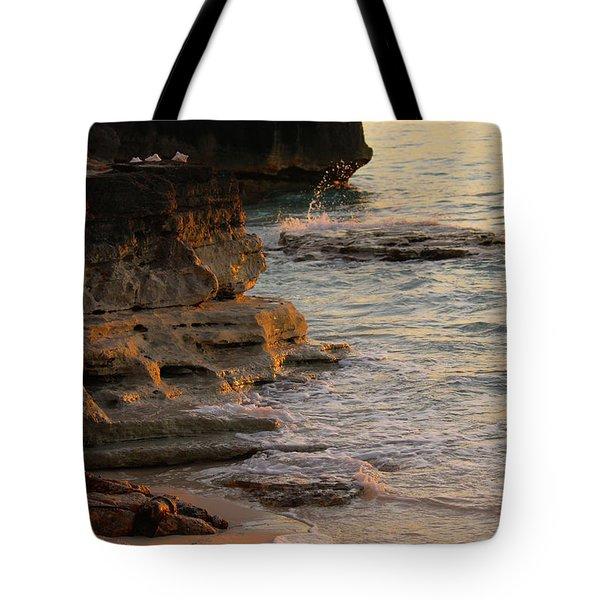 Shoreline In Bimini Tote Bag