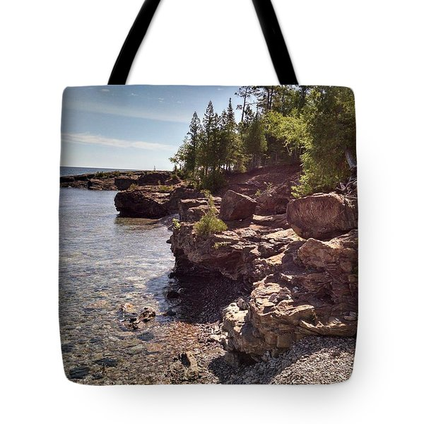 Shoreline In The Upper Michigan Tote Bag