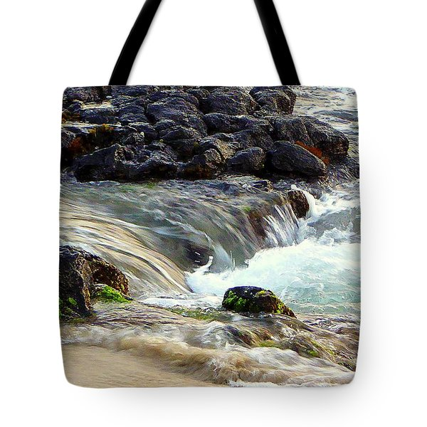Tote Bag featuring the photograph Shoreline by Lori Seaman