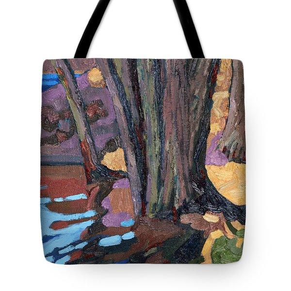 Shoreline Maples Tote Bag
