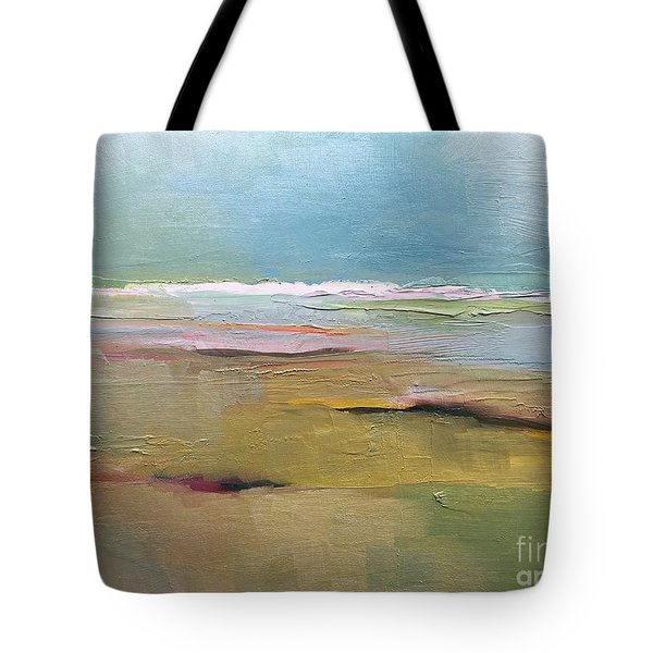 Tote Bag featuring the painting Shoreline by Michelle Abrams