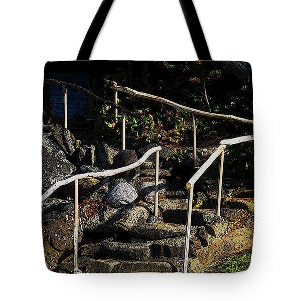 Shoreline Steps  Tote Bag by Anne Havard