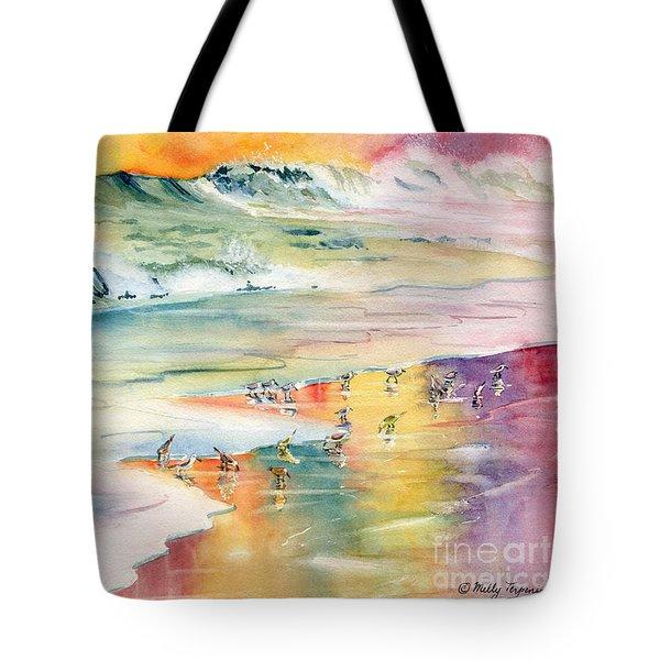Shoreline Watercolor Tote Bag