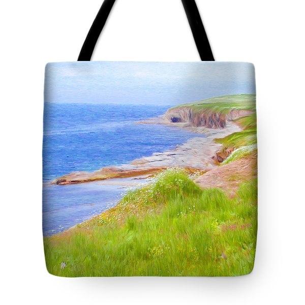 Shores Of Newfoundland Tote Bag by Jeff Kolker