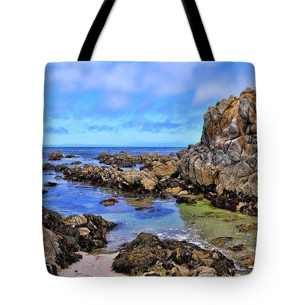 Shores Of Pacific Grove  Tote Bag by Gina Savage