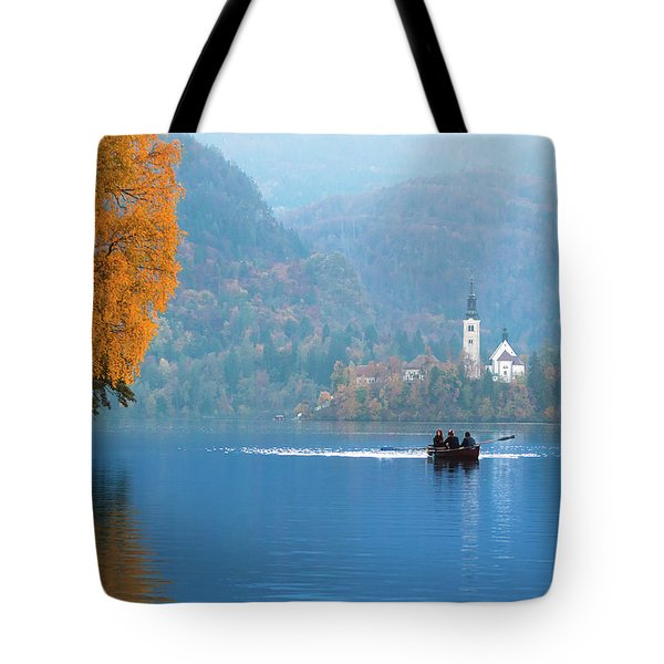 Tote Bag featuring the photograph Shorewards by Davor Zerjav
