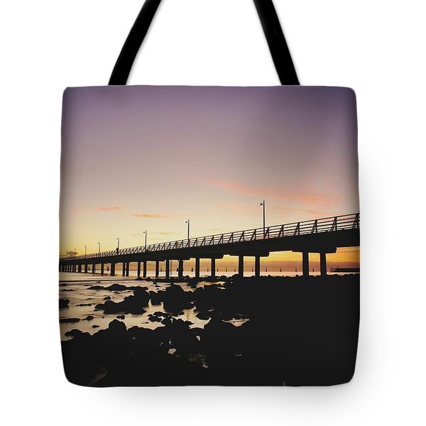 Shorncliffe Pier At Dawn Tote Bag
