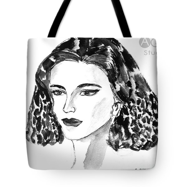 Short Hair Fashion Lady Tote Bag