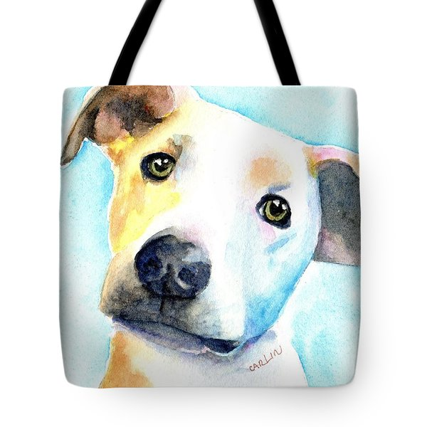 Short Hair White And Brown Dog Tote Bag