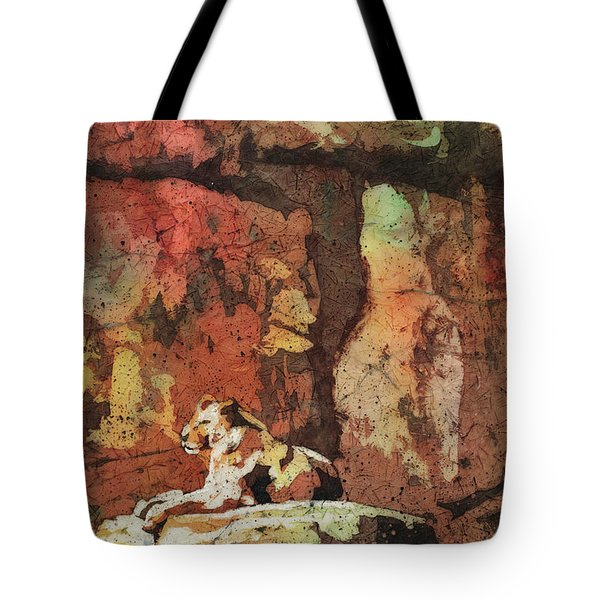 Tote Bag featuring the painting Short Reprieve by Ryan Fox