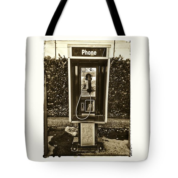 Short Stack Pay Phone Tote Bag