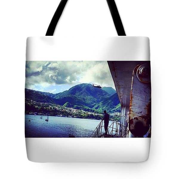 Caribbean Exploration Tote Bag by Vicki Giannakopoulos