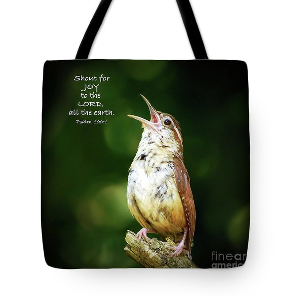 Tote Bag featuring the photograph Shout For Joy by Kerri Farley