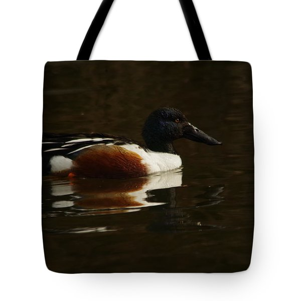 Tote Bag featuring the photograph Shovel Tail And A Wigeon by Jeff Swan