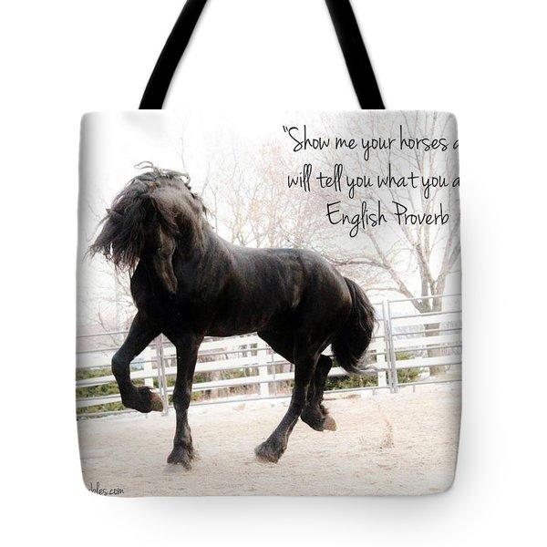 Show Me Your Horse Tote Bag