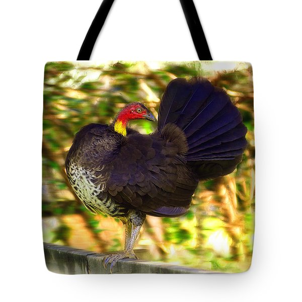 Tote Bag featuring the photograph Show Off 01 by Kevin Chippindall