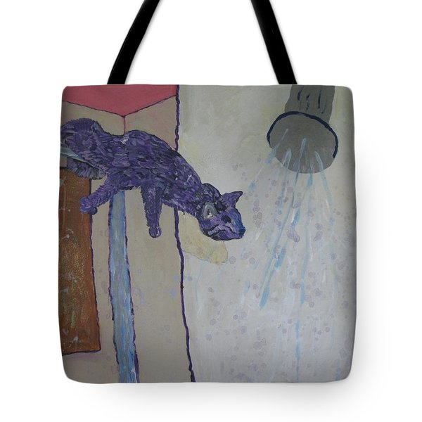 Shower Cat Tote Bag