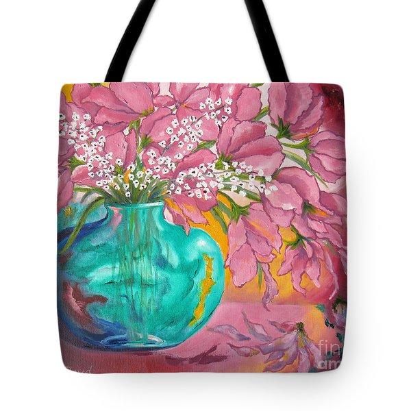 Shower Of Pink Tote Bag