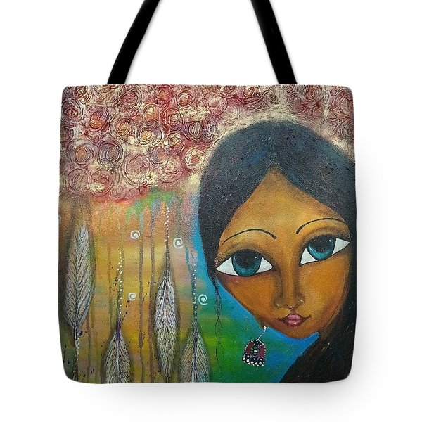 Shower Of Roses Tote Bag