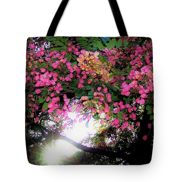 Shower Tree Flowers And Hawaii Sunset Tote Bag