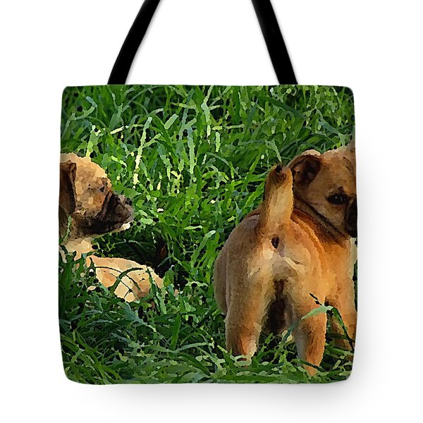 Showing Her Mutt. Tote Bag